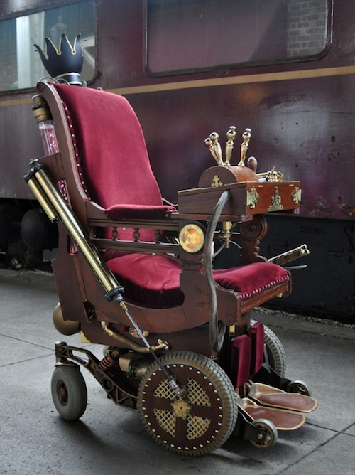 10. Steampunk Professor X Chair