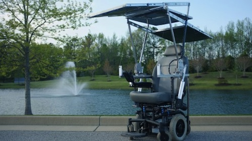 7. Solar-Powered Wheelchair